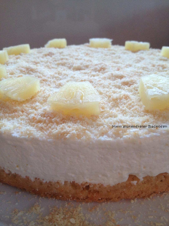 glutenfreie Ananas-Frischkäsetorte