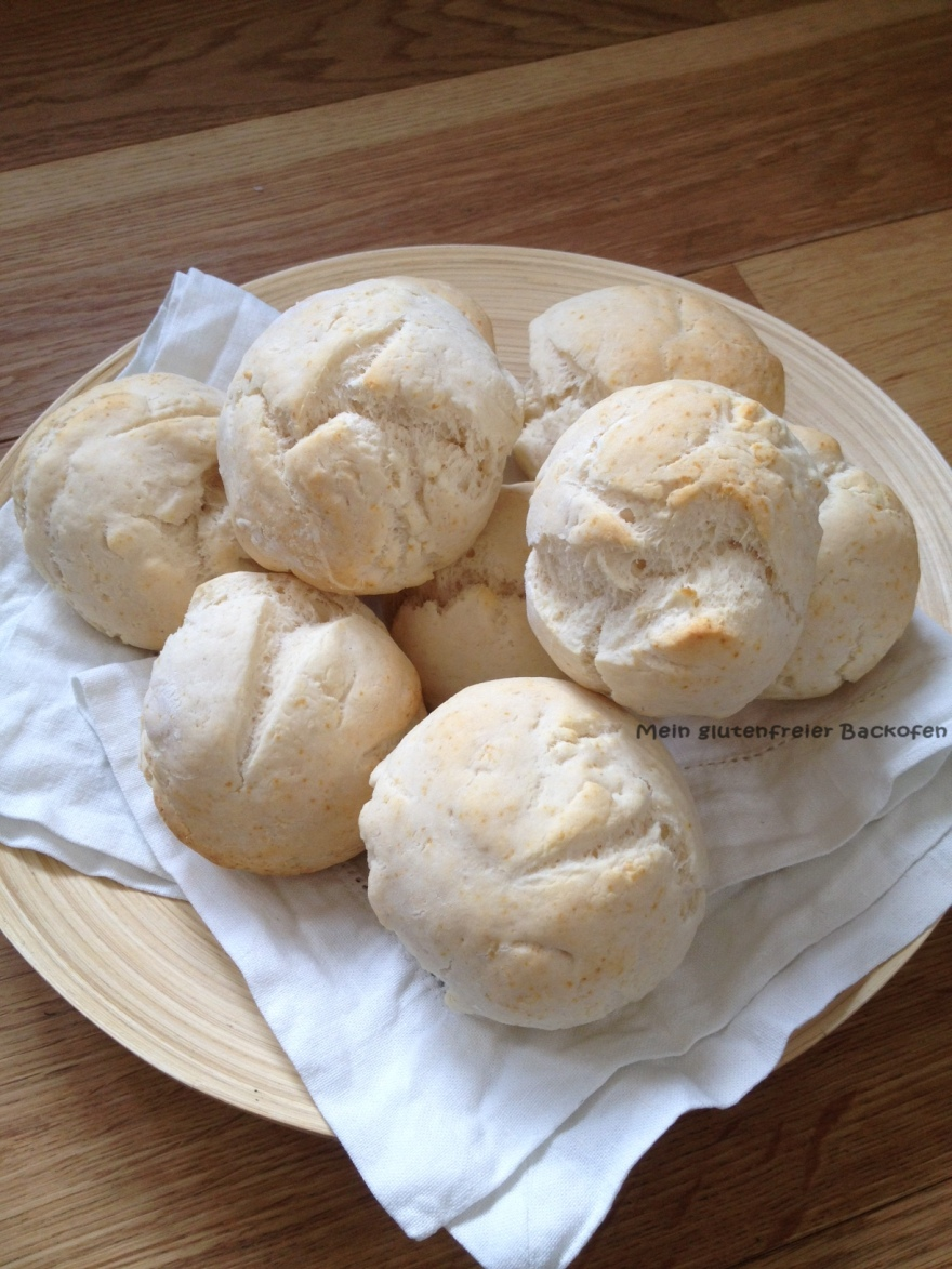 Schnelle glutenfreie Brötchen ohne Hefe