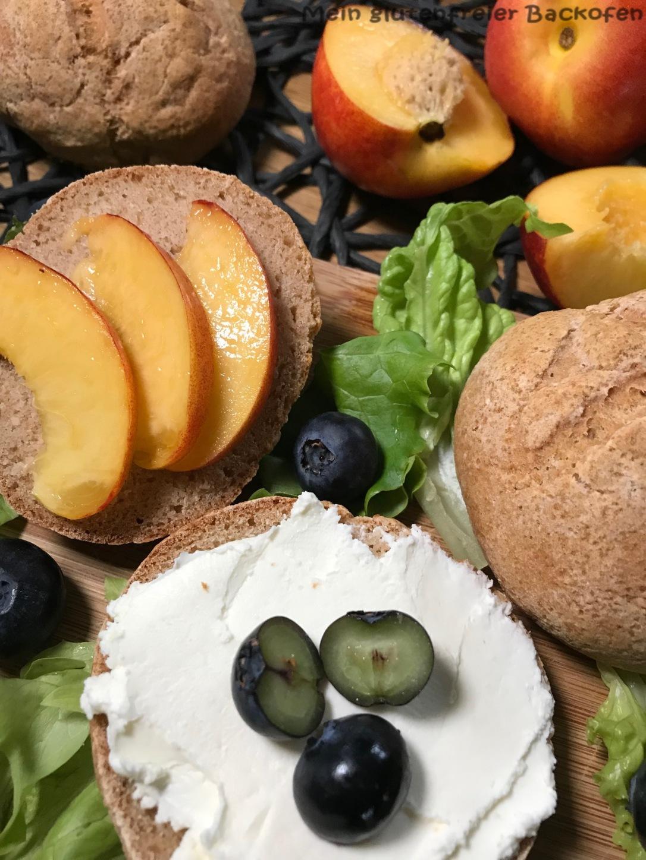 glutenfreie Brötchen ohne Buchweizenmehl