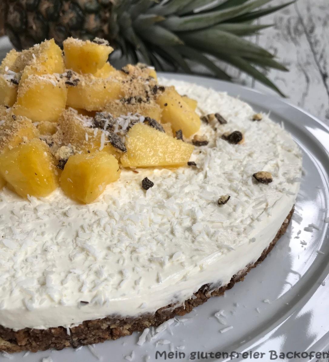 glutenfree pineapple cheesecake