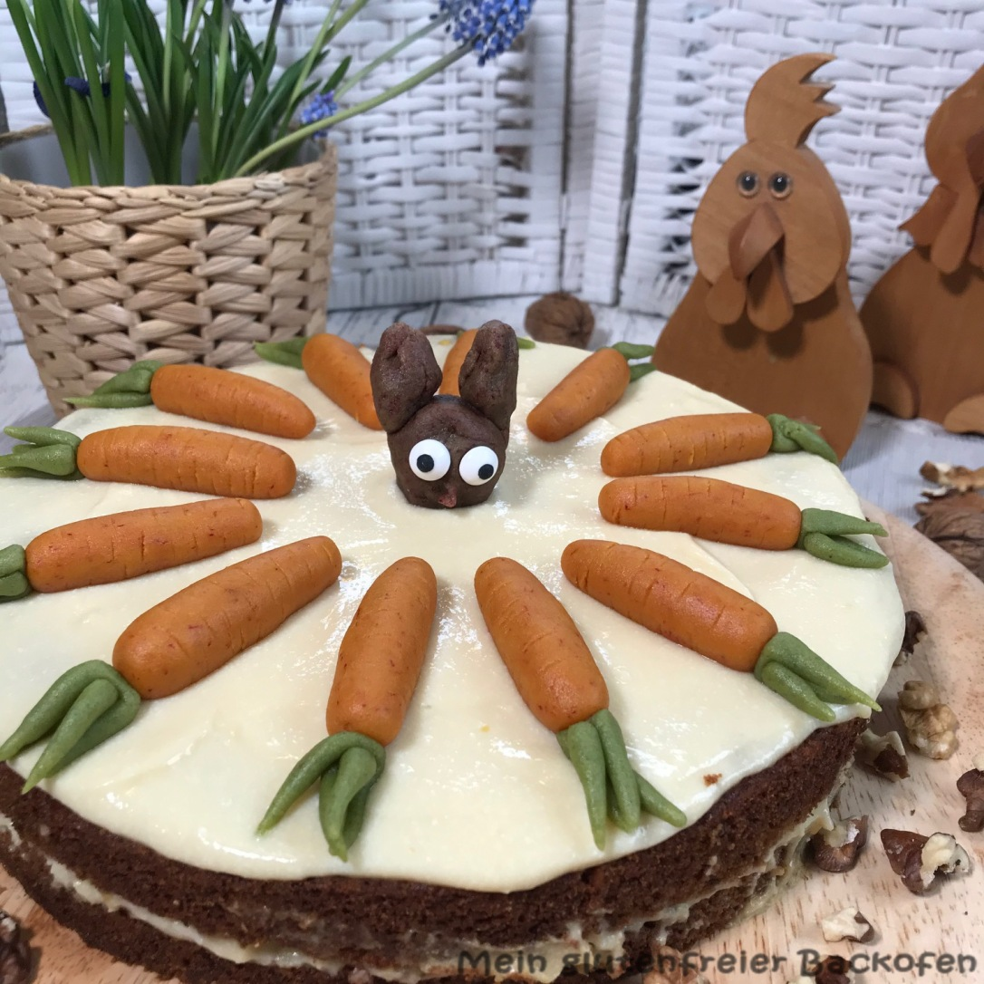 Möhrenkuchen glutenfrei und vegan