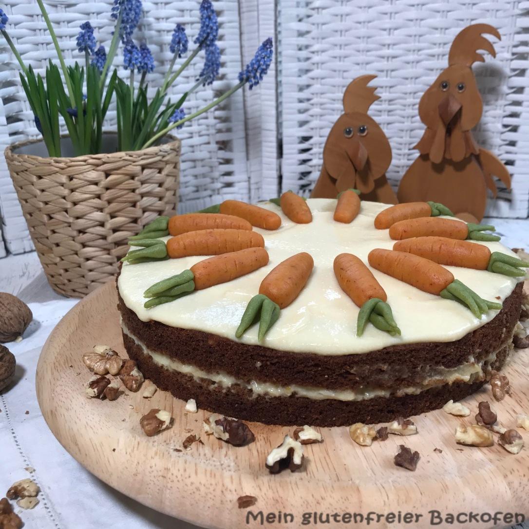 glutenfreie Möhrentorte für Ostern
