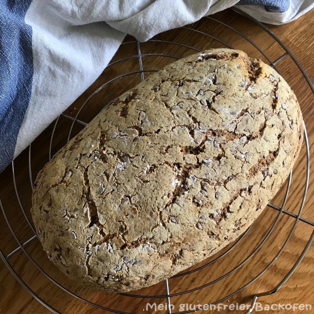 Hanf-Leinsamen-Brot mit Hefewasser-Früchten